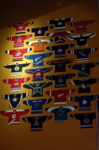 Wall of jerseys at Philips Arena