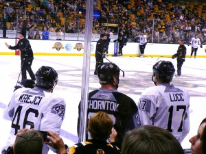 Thornton may come between Krejci and Lucic, but only temporarily.